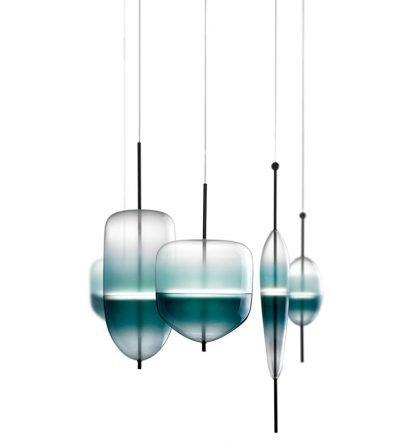 Art Deco Glass Glamorous Pendant Light