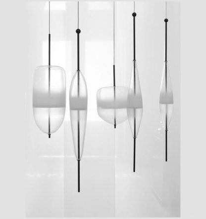 Art Deco Glass Lobby Pendant Light