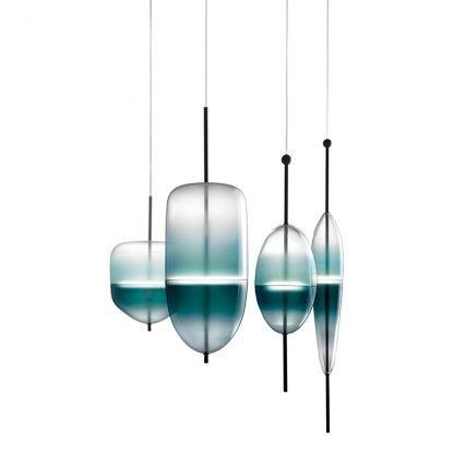 Art Deco Glass Lounge Pendant Light