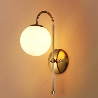 Eglantine Elegant Ball Glass Wall Lamp