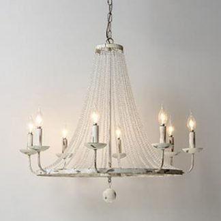 Egon Vintage Crystal Candlestick Chandelier Light