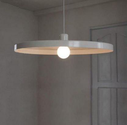 Flat Hat Pendant Light-walkway