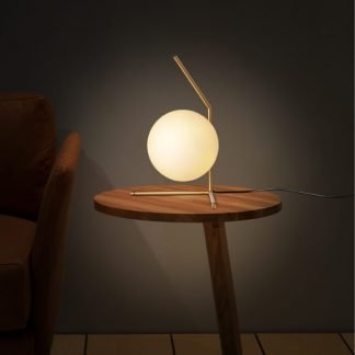 Henderson Stylish Globe Glass Table Lamp
