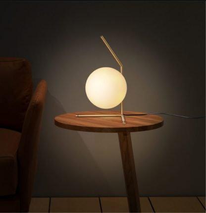 Henderson Stylish Globe Glass Table Lamp