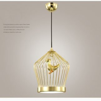Hoyt Elegant Bird Caged Pendant Light