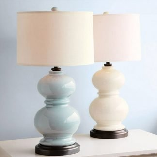 Leucothia Graceful Classic Column Shape Table Lamp