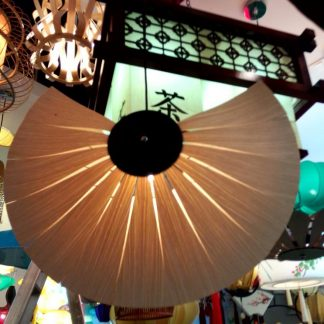 Lidiy Folding Fan Wooden Pendant Light