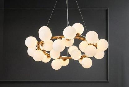 Luxury Ring Balls Livingroom Chandelier Light