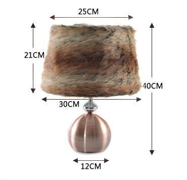 Modern Fashionable Drum Luxury Table Lamp
