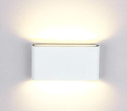 Modern Rectangle Flat White Wall Lamp