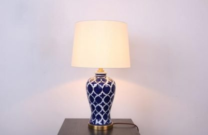 Nettie Mid Century Vase Shaped Table Lamp Lobby lights