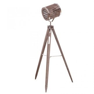 Nisien Wooden Barrel Tripod Floor Lamp