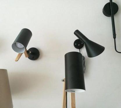 Nordic Wooden Accent Livingroom Wall Lamp