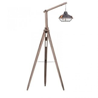 Shaelynn Retro Wooden Tripod Floor Lamp