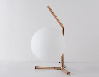 Stylish Globe Glass Bedroom Table Lamp