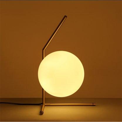 Stylish Globe Glass Corridor Table Lamp