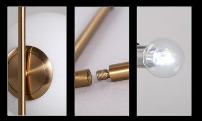Stylish Globe Glass Elegant Table Lamp