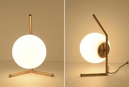 Stylish Globe Glass Hall Table Lamp