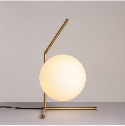Stylish Globe Glass Hallway Table Lamp