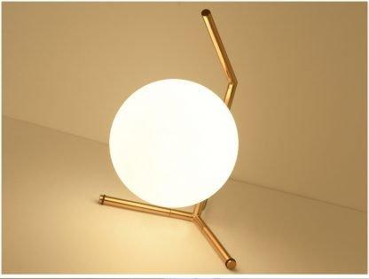 Stylish Globe Glass Industrial Table Lamp