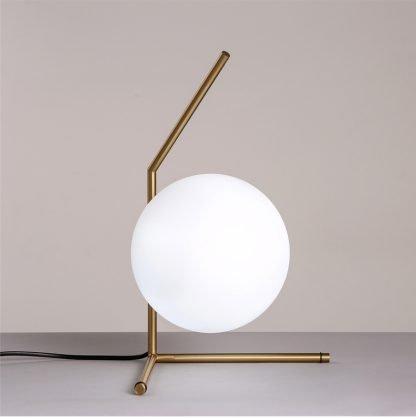 Stylish Globe Glass Livingroom Table Lamp