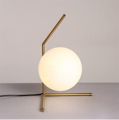 Stylish Globe Glass Lounge Table Lamp