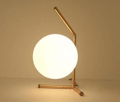Stylish Globe Glass Luxury Table Lamp