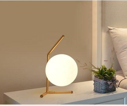 Stylish Globe Glass Minimalist Table Lamp