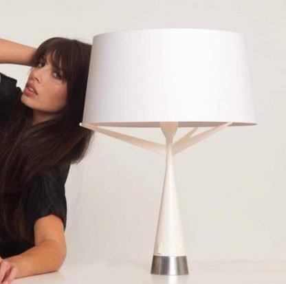 Xyliana Stylish Drum Silhouette Table Lamp Study Room lights