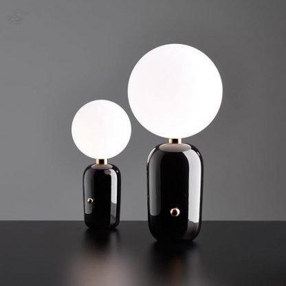 Barnham Contemporary Globe Glass Table Lamp