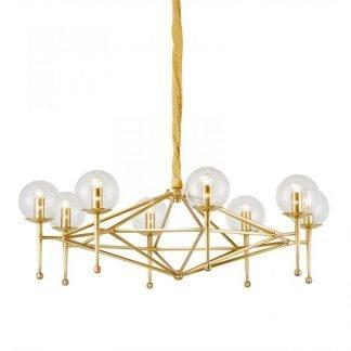 Briannon Contemporary Globe Glass Chandelier Light