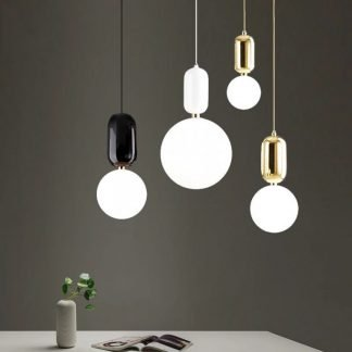 Chakierra Minimalist Sphere Glass Pendant Light