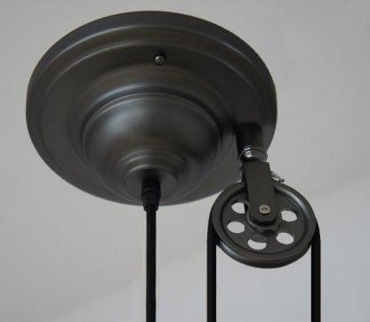 Pulley Wheel Pendant Light-office