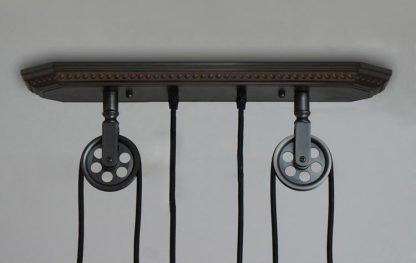 Pulley Wheel Pendant Light-store room
