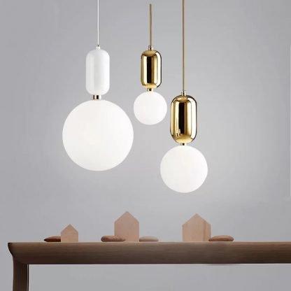 Sphere Glass Pendant Light Luxury Design