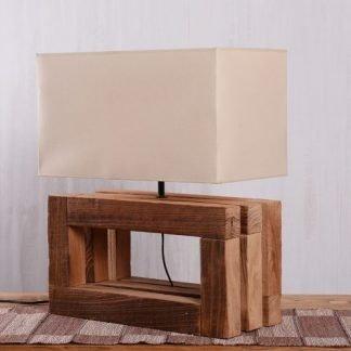 Acwellen Classic Wooden Base Table Lamp