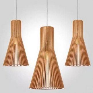 Ealhhard Minimalist Wooden Decorative Pendant Light