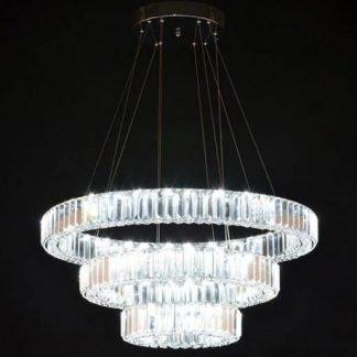 Eallair Contemporary Glam Glass Chandelier Light