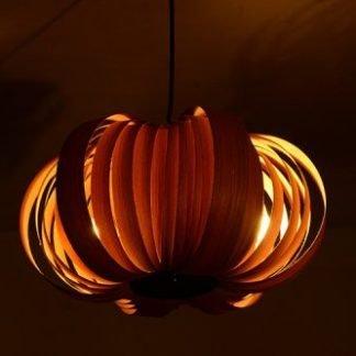 Eaman Modern Wooden Flower Pendant Light