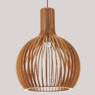 Fabrice Vintage Beautiful Wooden Pendant Light