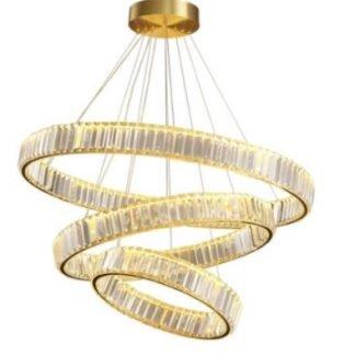 Breneon Luxury Gold Circular Chandelier Light