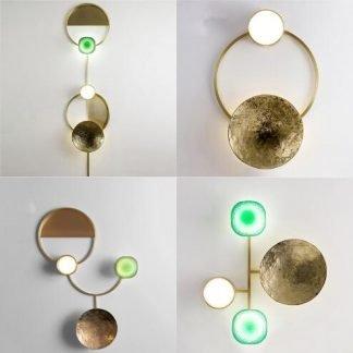 Corcurachan Contemporary Art Deco Wall Lamp
