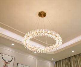 Gold Ring Chandelier Light Luxury Design lights
