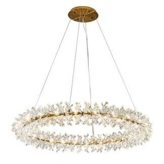Hererinc Luxury Gold Ring Chandelier Light