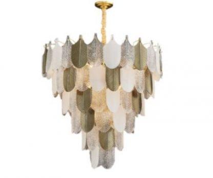 Hereweald Luxury Leaf Tiered Chandelier Light