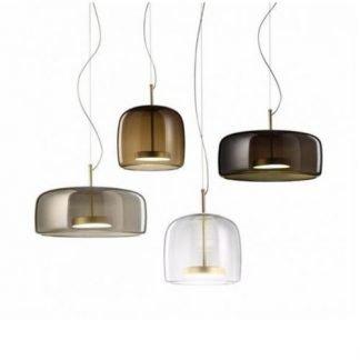 Hermandina Contemporary Glass Jar Pendant Light