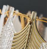 Leaf Tiered Chandelier Light Luxury Design lights