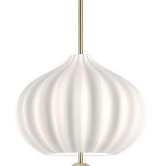 Brendis Modern Minimalist White Pendant Light