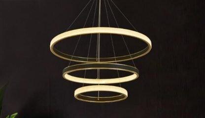 Elegant Circle Chandelier Light Family room lights