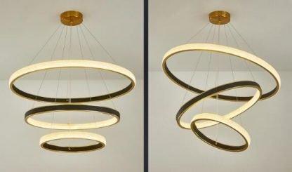 Elegant Circle Chandelier Light Luxury Design lights
